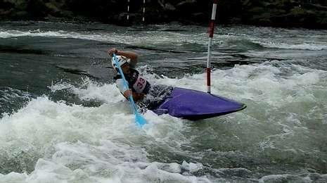 Iago Canosa tuvo una brillante competición en el río Miño.