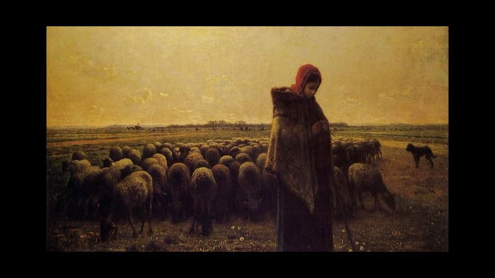 «Una pastora con su rebaño» (1863). Jean-François Millet. Museo de Orsay (París)