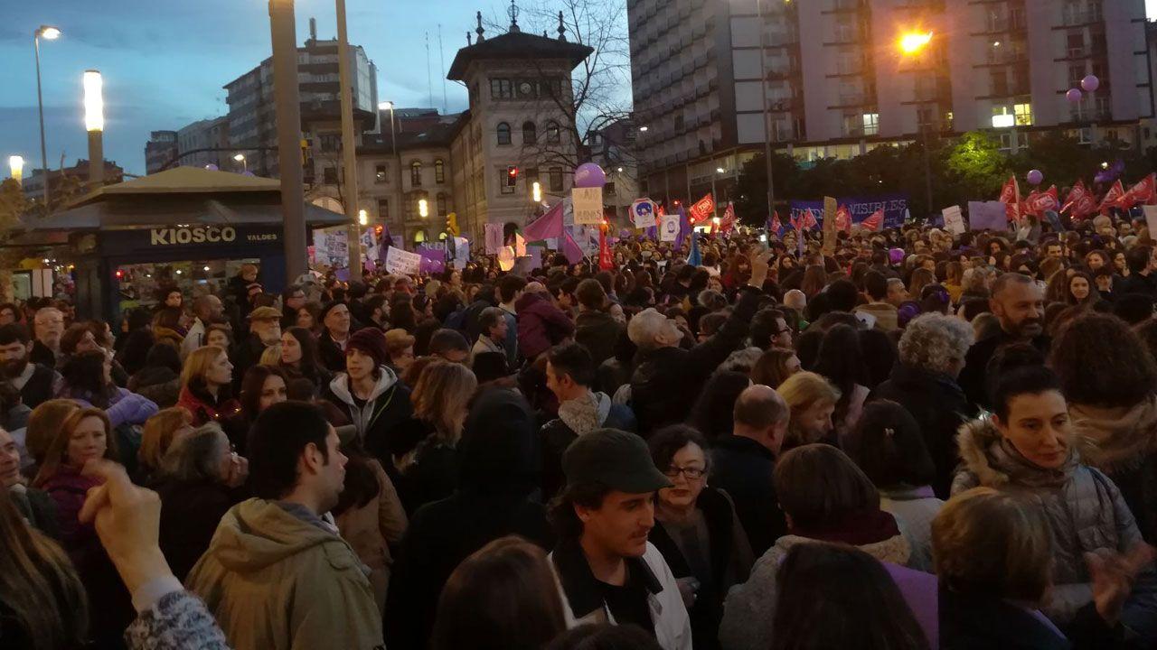 .Manifestantes en El Humedal