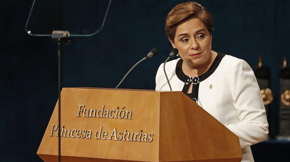 Patricia Espinosa, en el teatro Campoamor