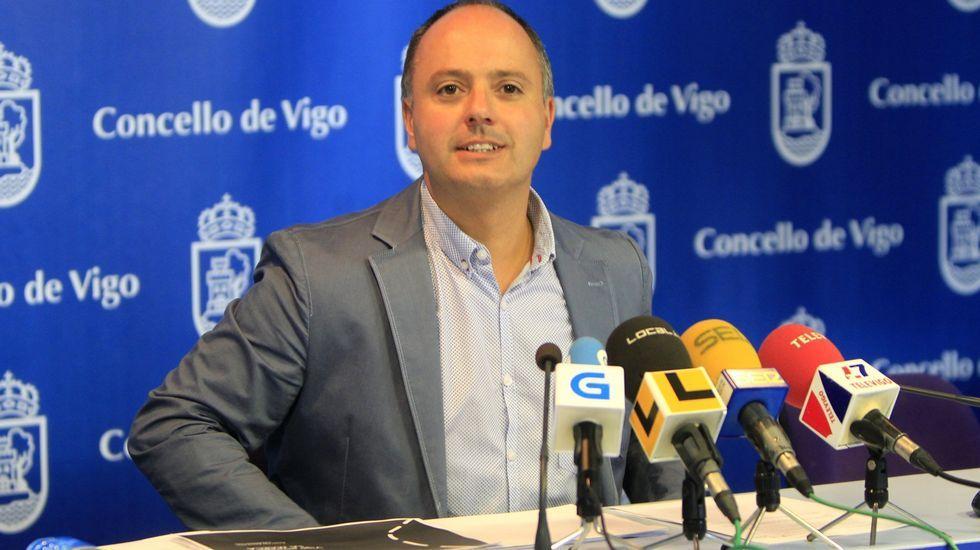 El concejal David Regades