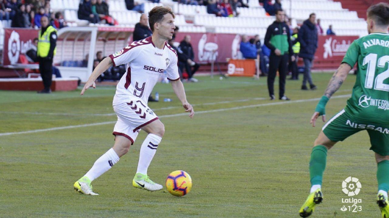 Fabbrini Real Oviedo Albacete Carlos Tartiere.Susaeta en el Albacete-Sporting de la primera vuelta