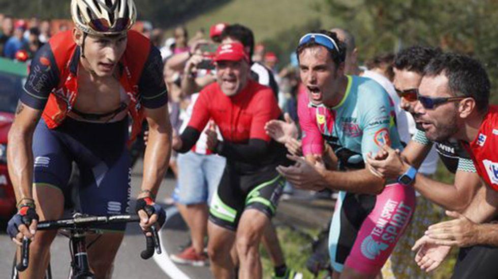 .El ciclista gijonense Iván García Cortina, durante la novena etapa de la Vuelta Ciclista a España