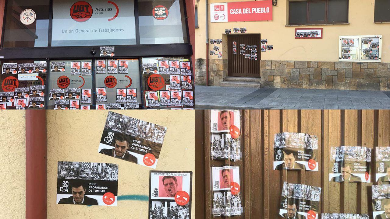 Homenaje a Anxel Casal en Cacheiras.Ataque fascista en las cuencas
