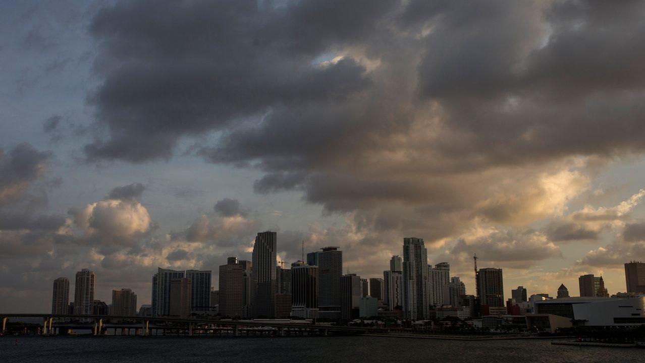 El perfil de la ciudad de Miami antes de la llegada de «Irma».
