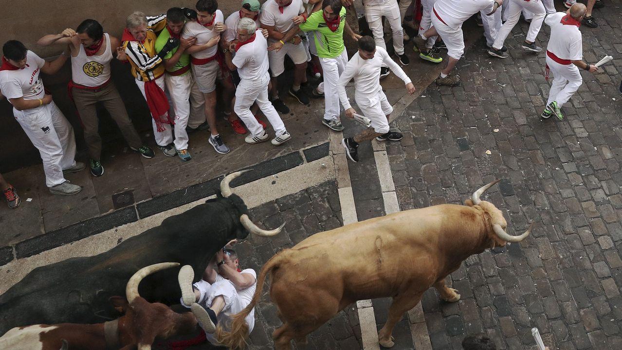 Tres heridos por asta de toro en el primer encierro de sanfermines