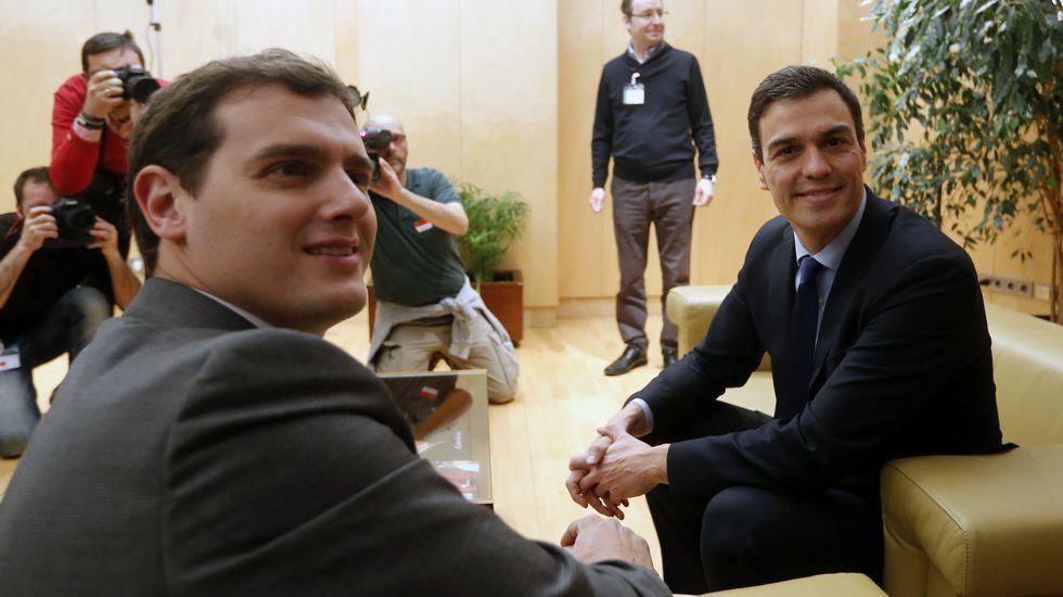 Los puntos de encuentro entre PSOE y Ciudadanos.El acto de Podemos por el Aberri Eguna tuvo muy poco público