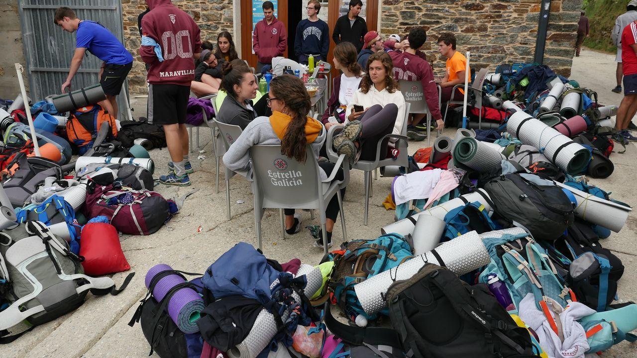 .Excursión de instituto en La Laguna, antes de cruzar a Galicia