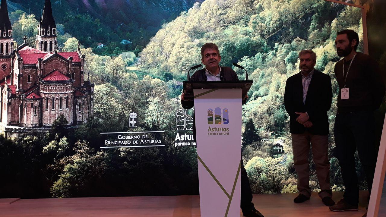 Belarmino Fernández, alcalde de Somiedo en la presentación de NaturWatch