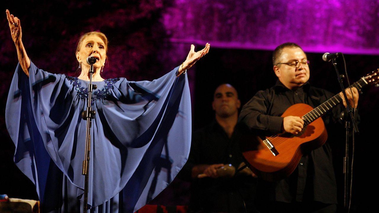 Maria Dolores Pradera en Arousa en el 2009