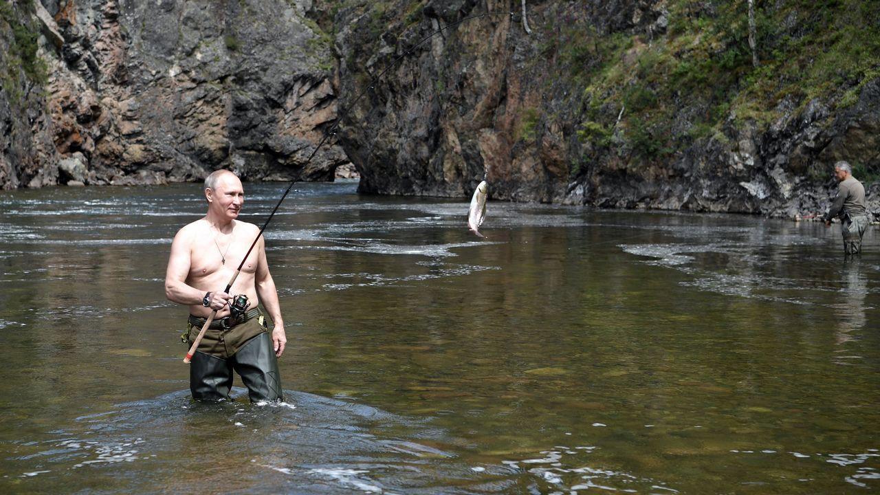 El presidente ruso, Vladímir Putin, se fue de pesca a la taiga siberiana