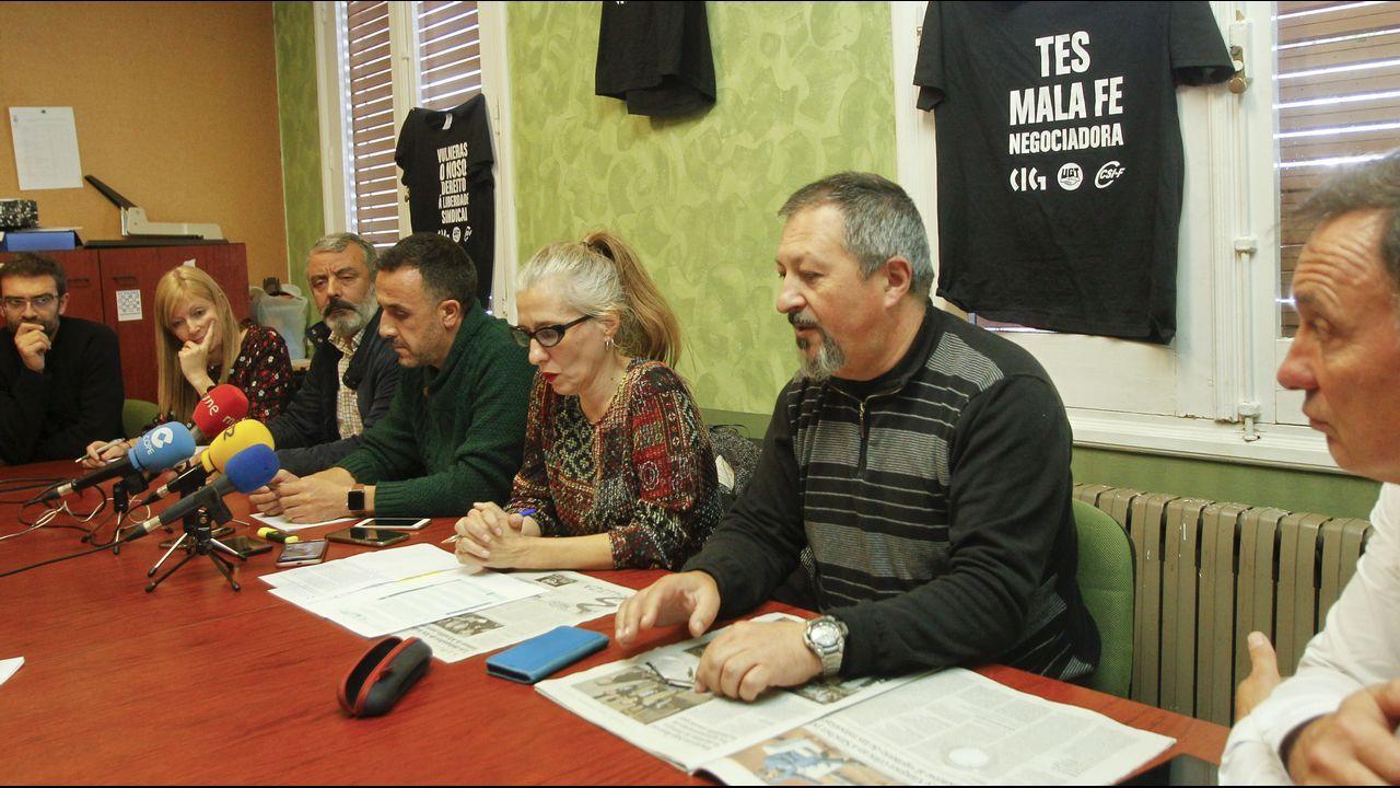 Imagen del Congreso de CC.OO. de Galicia celebrado en mayo del 2017, en el que participó el alcalde de Ferrol, Jorge Suárez