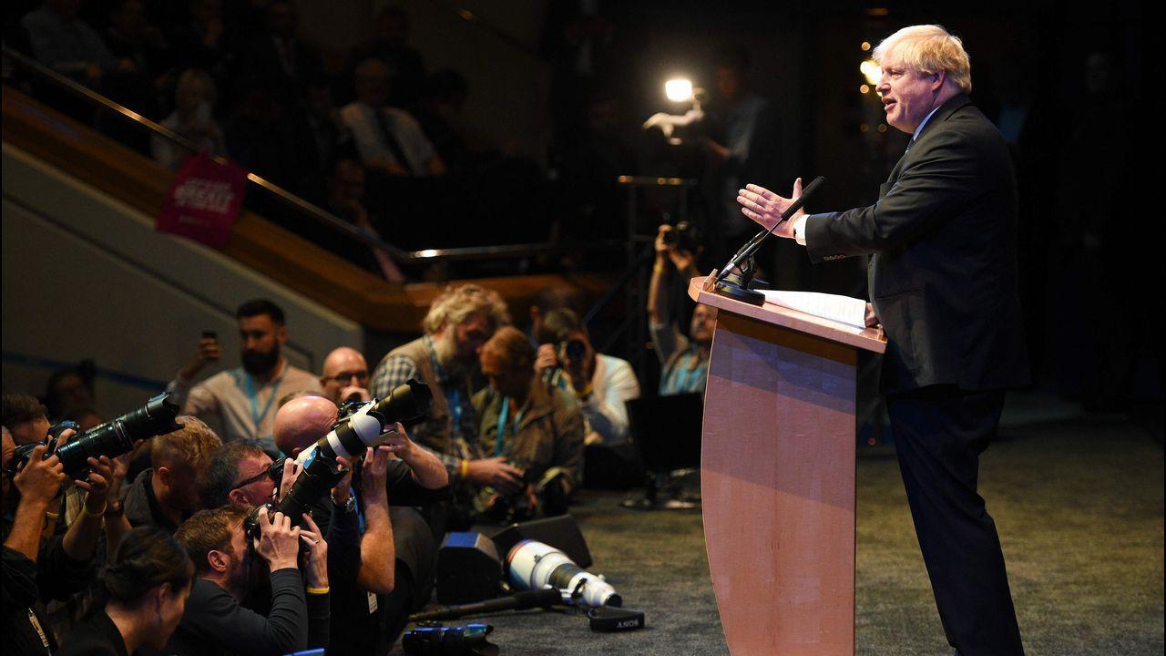 La intervención de Boris Johnson acaparó la atención mediática en el Reino Unido