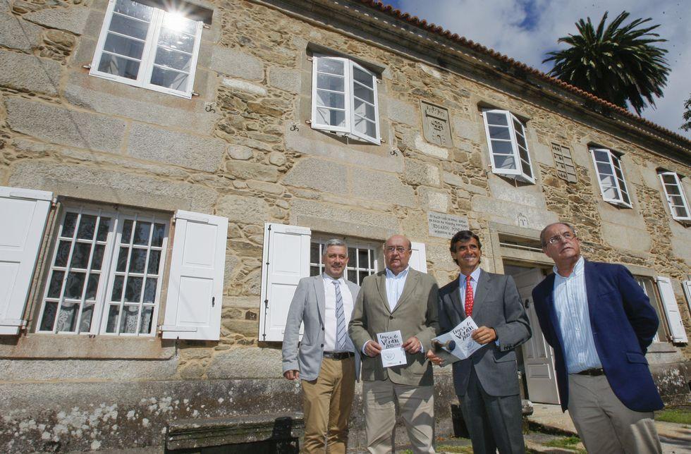 García, Fondo, Bello y Varela presentaron el curso de verano de la UIMP en la Casa de Pondal.