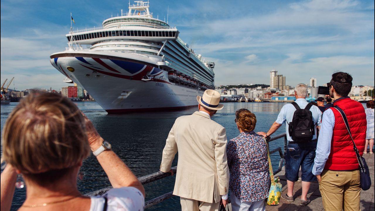 Desembarco de cruceristas en A Coruña