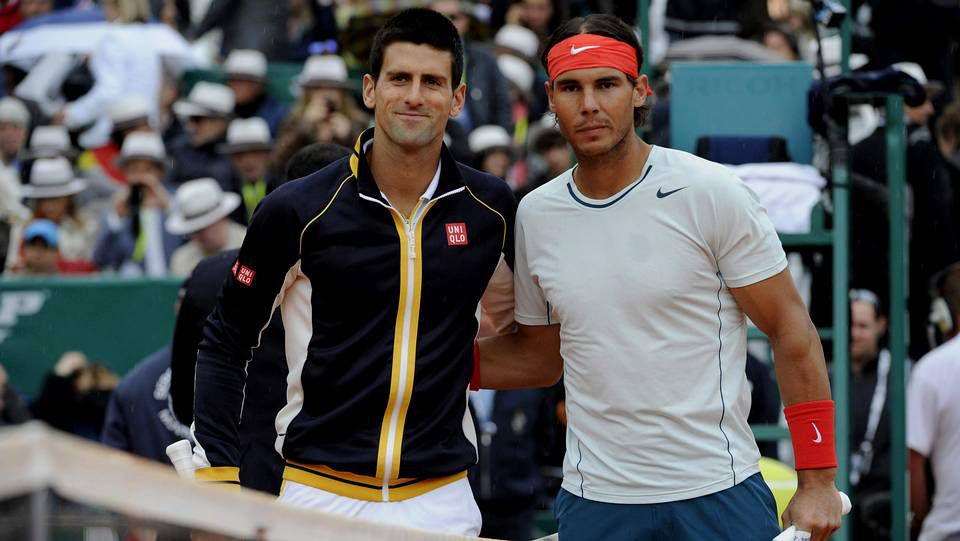 Rafael Nadal y Novak Djokovic, minutos antes de disputar la final.