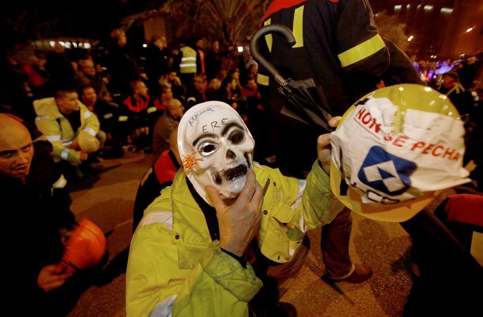 Los trabajadores de Alcoa en A Coruña llevan semanas protagonizando protestas.