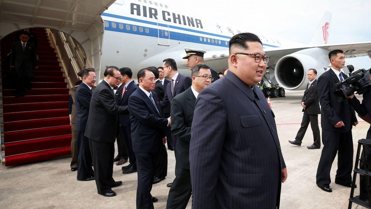 Donald Trump y Kim Jong-Un ya están en Singapur.