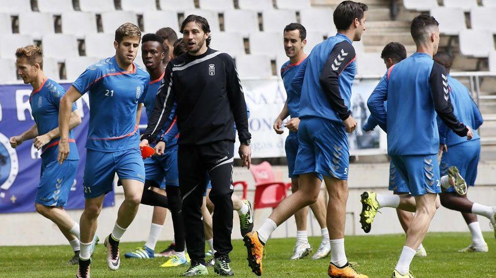 Mossa Pombo Zaragoza Real Oviedo La Romareda.David Generelo, durante un entrenamiento.