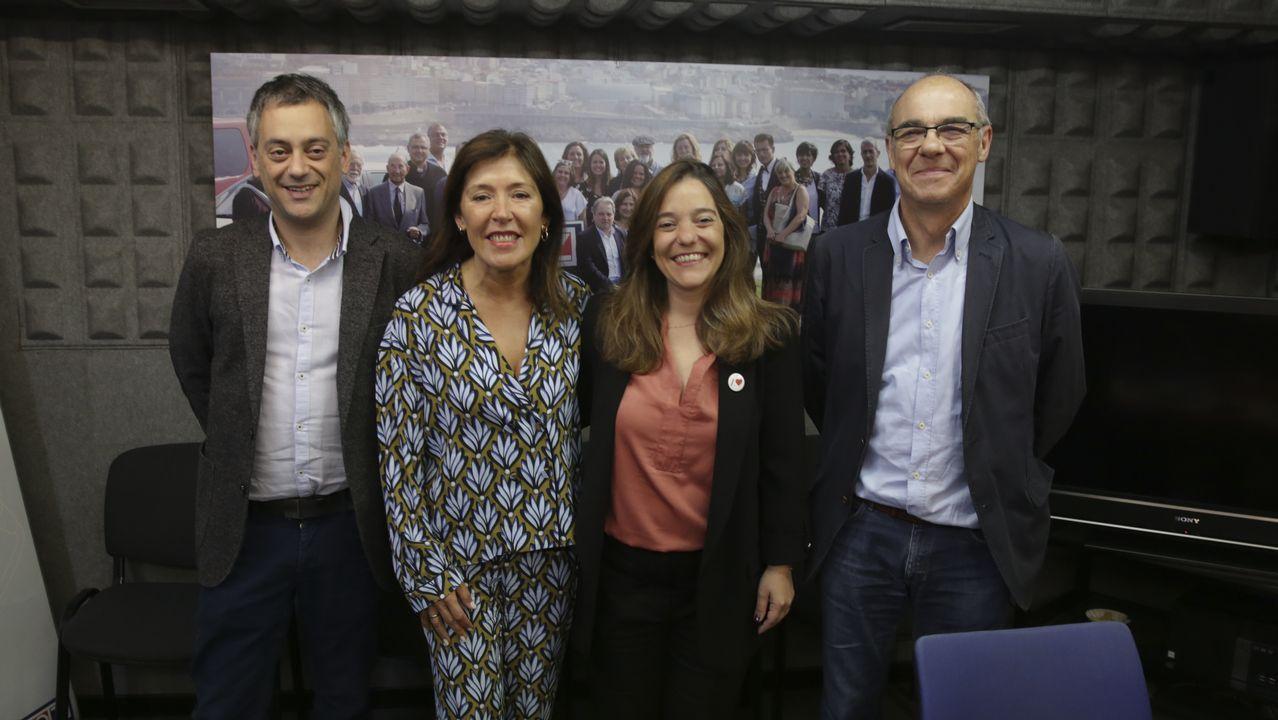 Adrián Barbón, Teresa Mallada, Juan Vázquez y Ángela Vallina