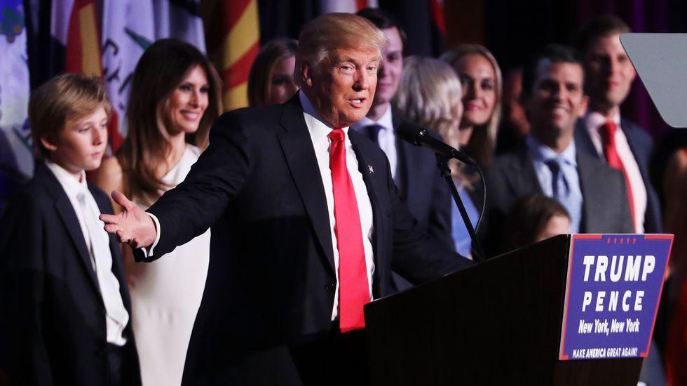 Así reaccionó el mundo al triunfo de Trump.Donald Trump y Nigel Farage en la Trump Tower de Nueva York