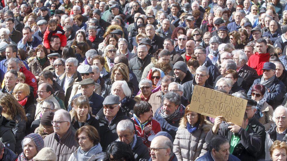.Dende o 22 de febreiro véñense producindo en toda España manifestacións reclamando pensións dignas, como esta do sábado en Ferrol