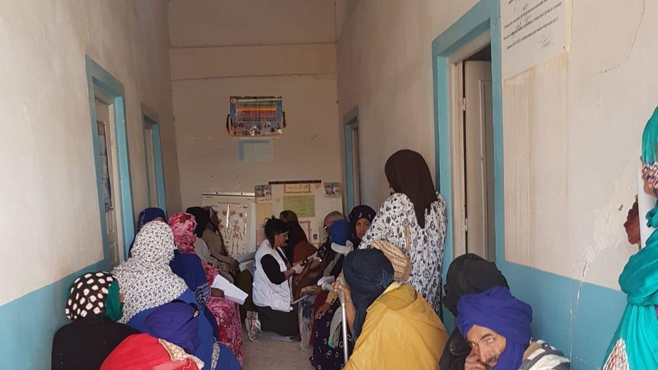 Interior de una de las instalaciones médicas de los campamentos de refugiados saharahuis en Tindouf