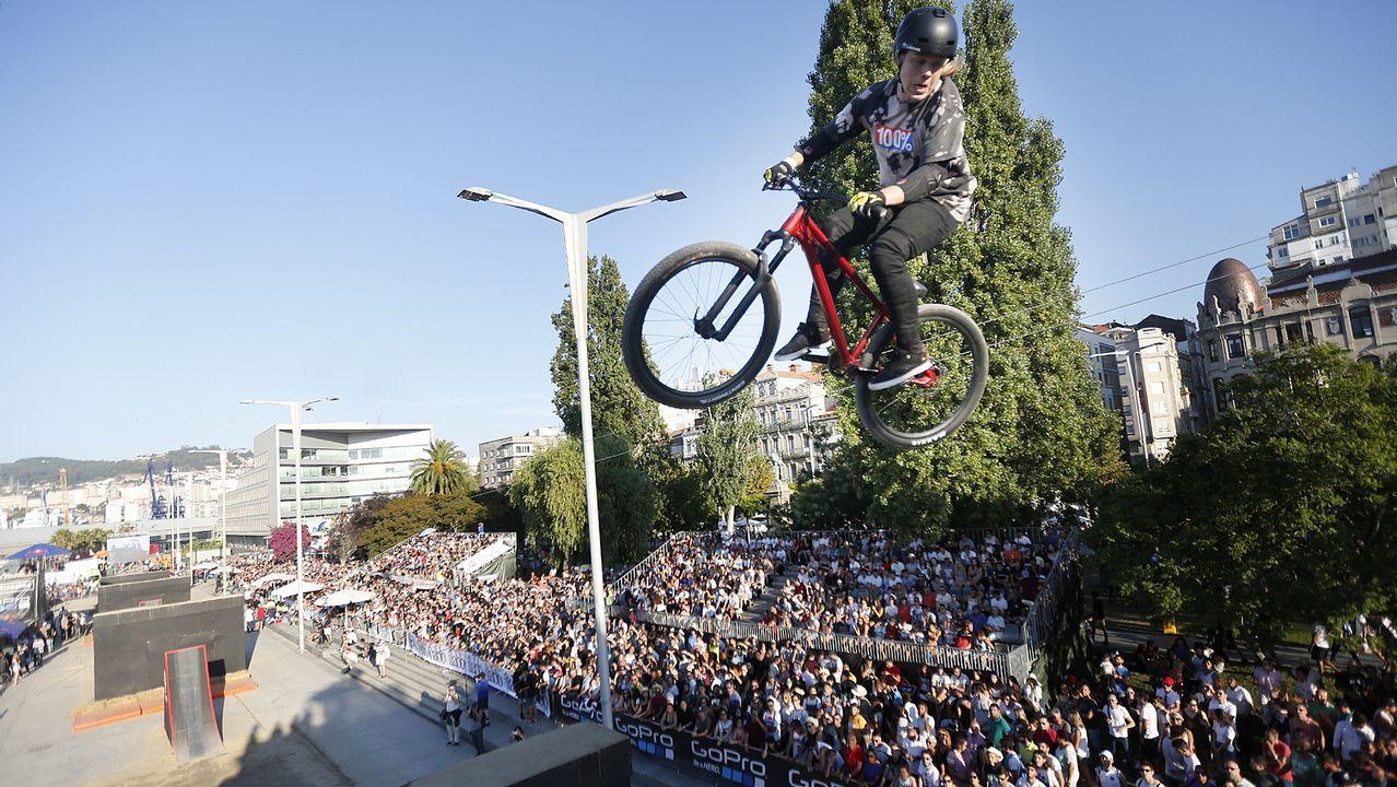 Bicis y «skates» ya vuelan en Vigo.El evento se celebra desde mañana hasta el domingo