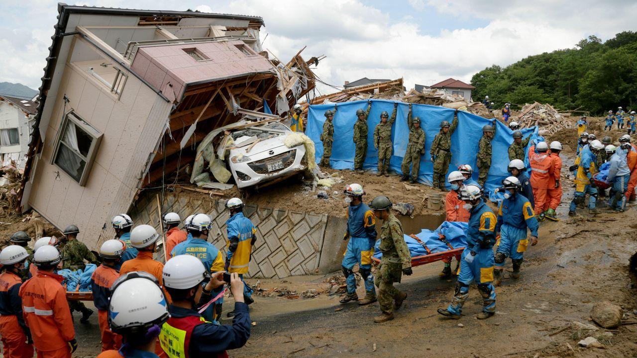 Un corrimiento de tierras en Kumano destrozó una casa