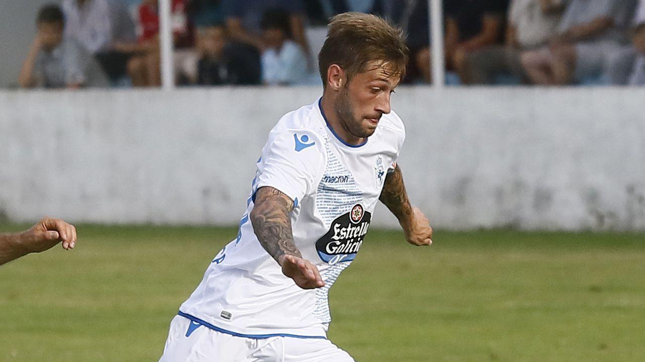 Vicente Gómez, en un partido contra el Dépor en el 2014