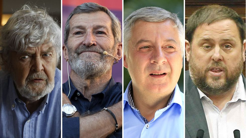 Beiras, Rodríguez, Blanco y Junqueras