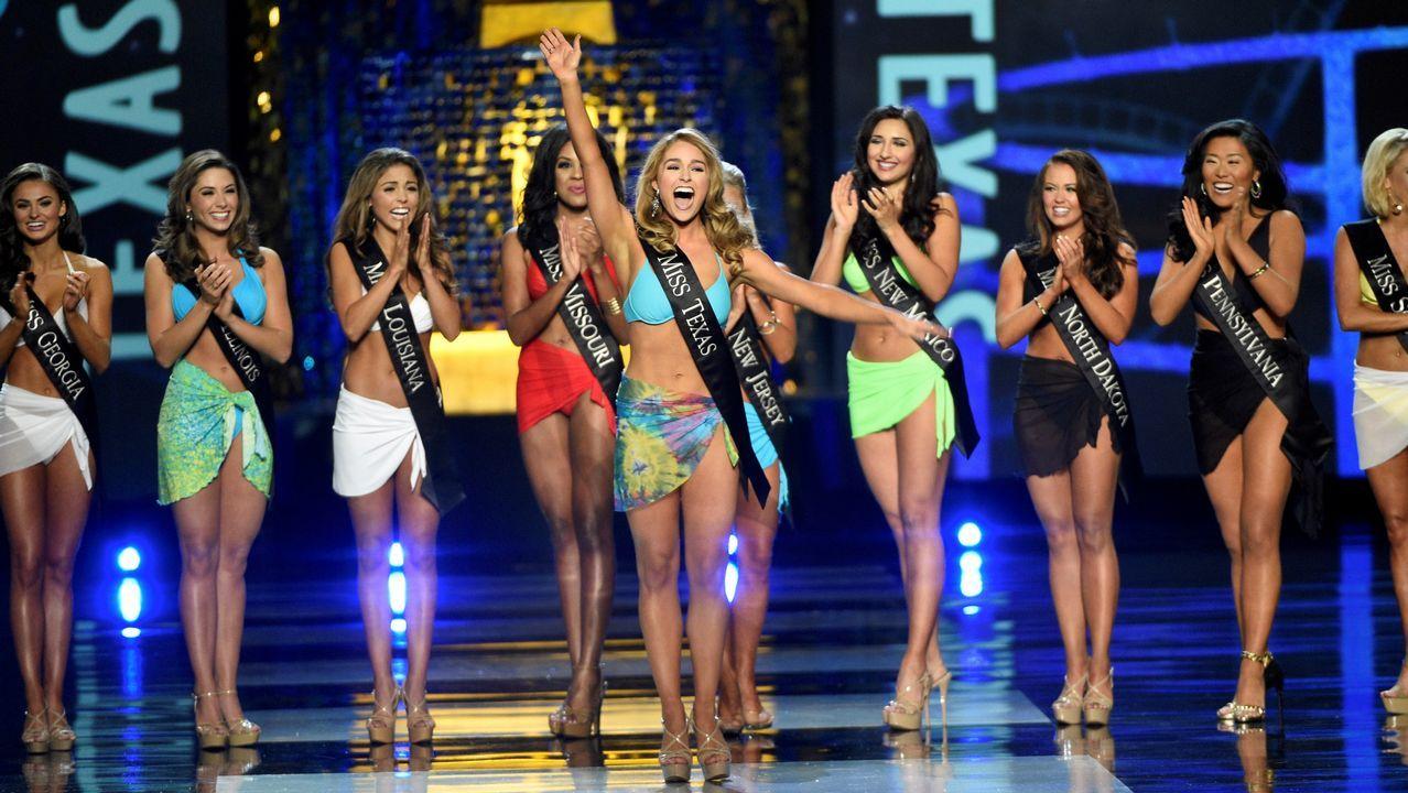Miss América dice adiós al biquini.Patricia Conde y Carlos Seguí en una imagen de archivo