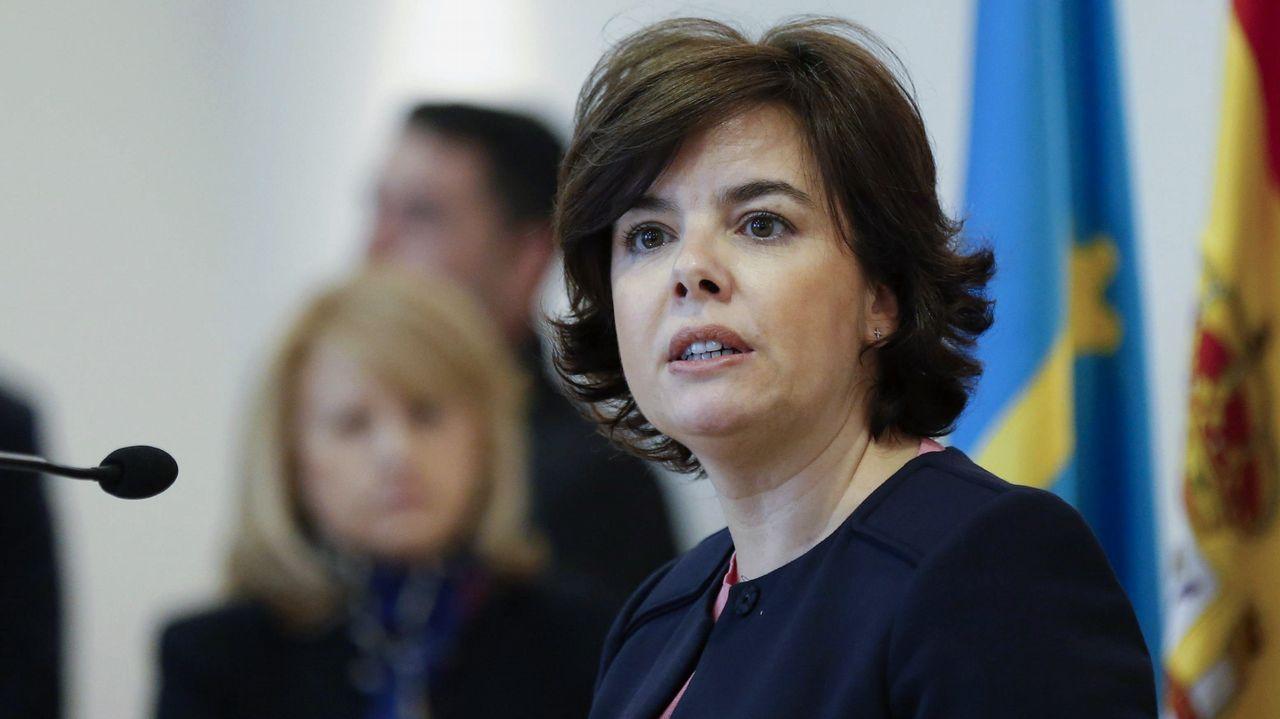 .La vicepresidenta del Gobierno, Soraya de Sáenz de Santamaría