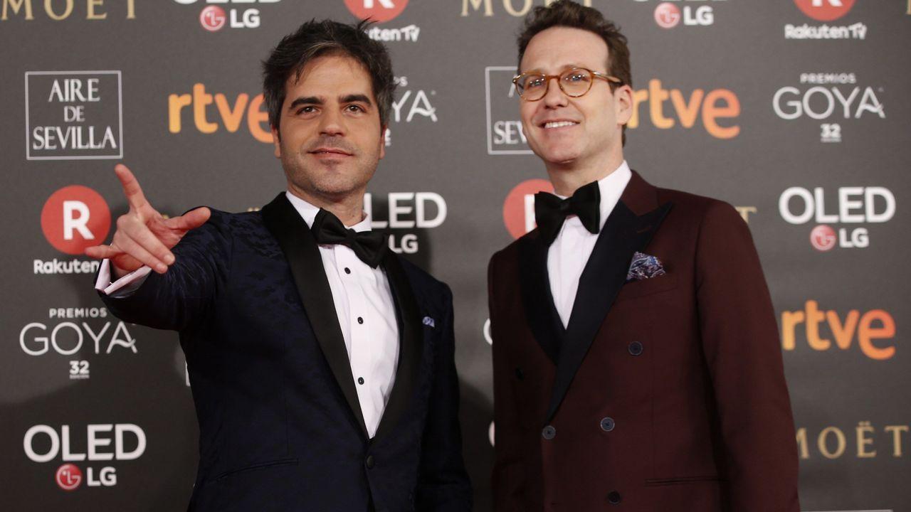 .Los humoristas y presentadores de la gala, Ernesto Sevilla y Joaquín Reyes.