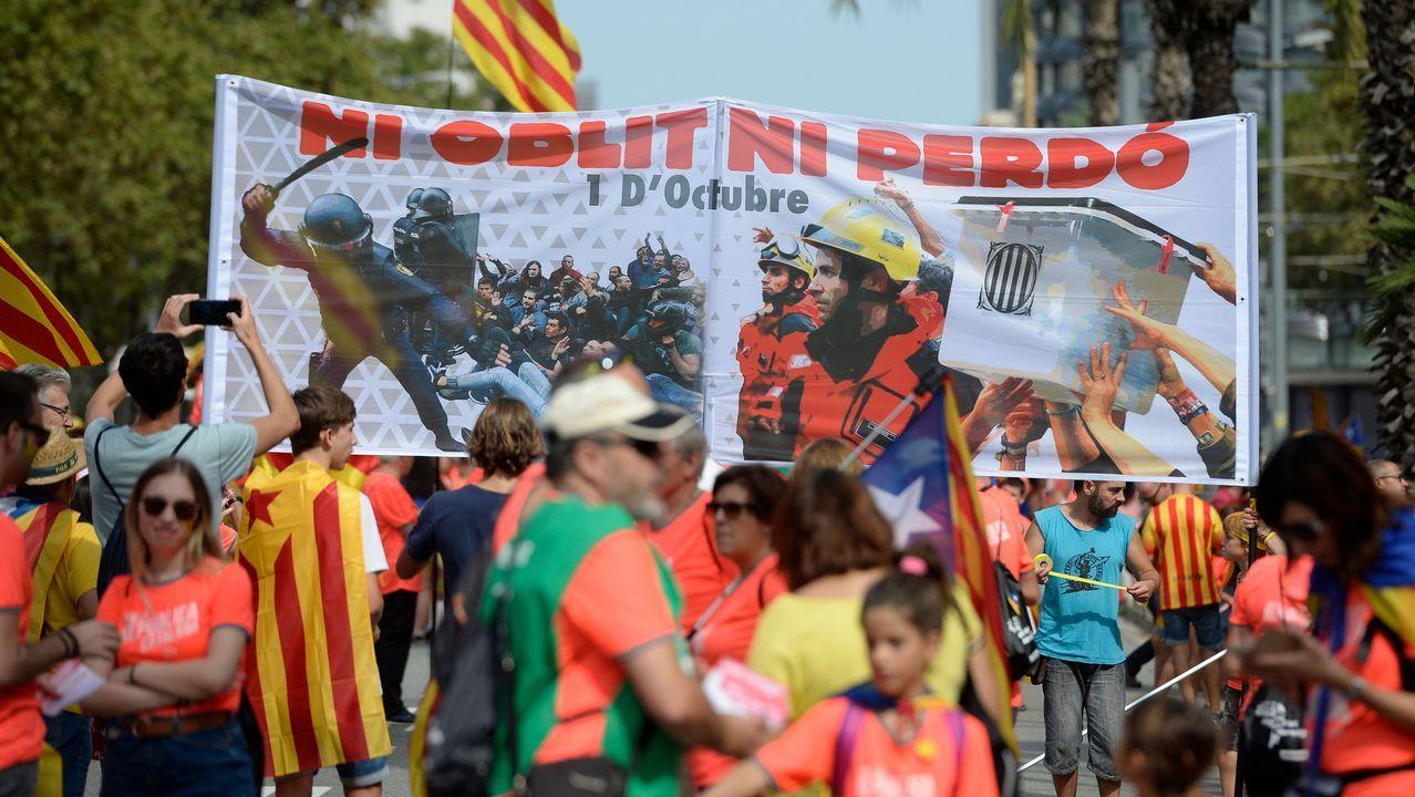 Celebración de la Diada en las calles de Barcelona
