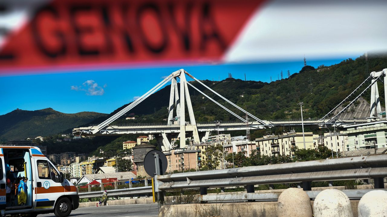 Derrumbe de un viaducto en Italia