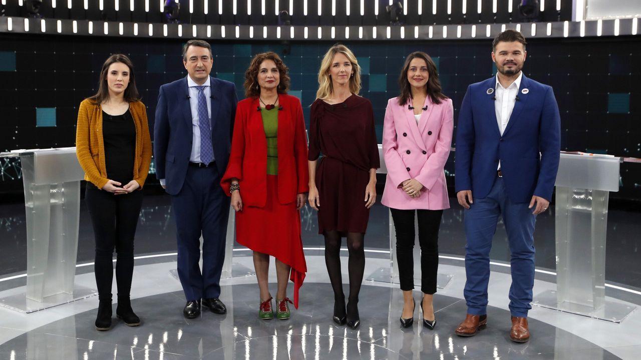 Los presentadores del debate de Atresmedia