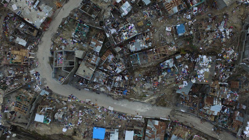 La devastación de Haití tras el paso de «Matthew», a vista de pájaro