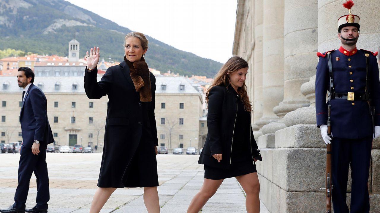 .Llegada de la infanta Elena a El Escorial