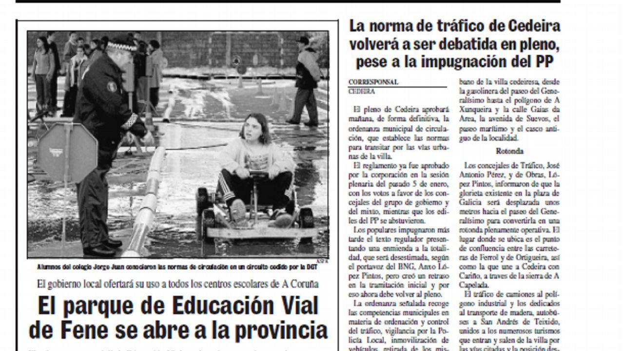 Detienen dos furgonetas en la A-75 con 41.300 euros en ropa falsificada.La concejala de Infraestructuras, Ana Rivas, y el alcalde, Wenceslao López
