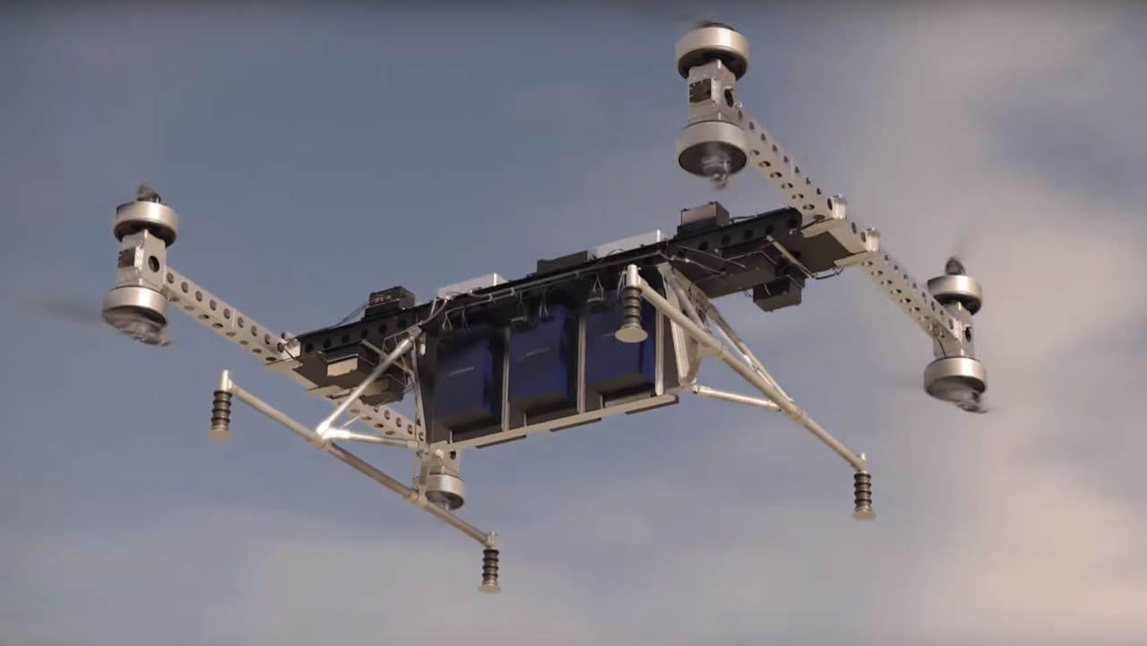 Así es el dron de Boeing capaz de levantar 200 kilos de peso.El ministro de Ciencia visitó A Coruña para inaugurar una exposición en el Muncyt