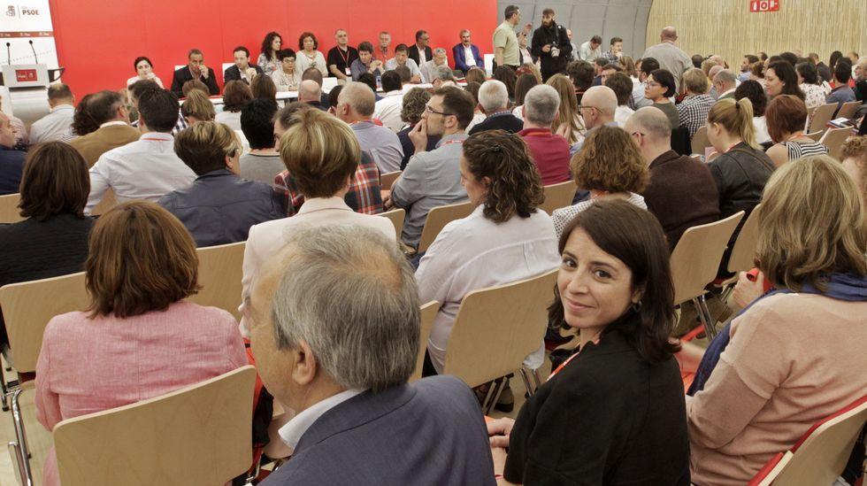 .Adriana Lastra, que liderará a los delegados asturianos en el comité federal del PSOE, durante el Congreso extraordinario de la Federación Socialista Asturiana, en el participan un total de 265 delegados que eligen a los 45 delegados de la FSA-PSOE que acudirán al 39 Congreso Federal socialista