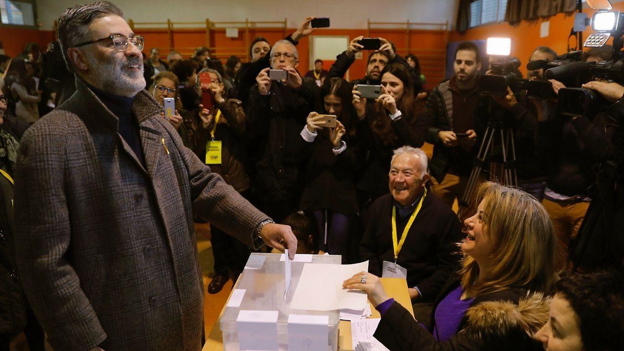 .Votación del líder de la CUP. Carles Riera.