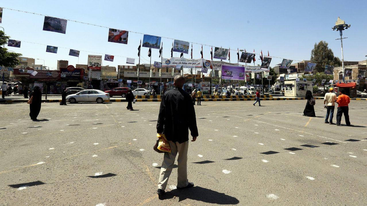 Protestas en Saná (Yemen) contra las operaciones militares encabezadas por Arabia Saudí
