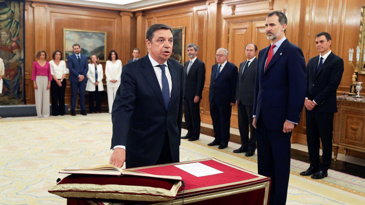 El ministro de Agricultura, Pesca y Alimentación, Luis Planas, promete su cargo