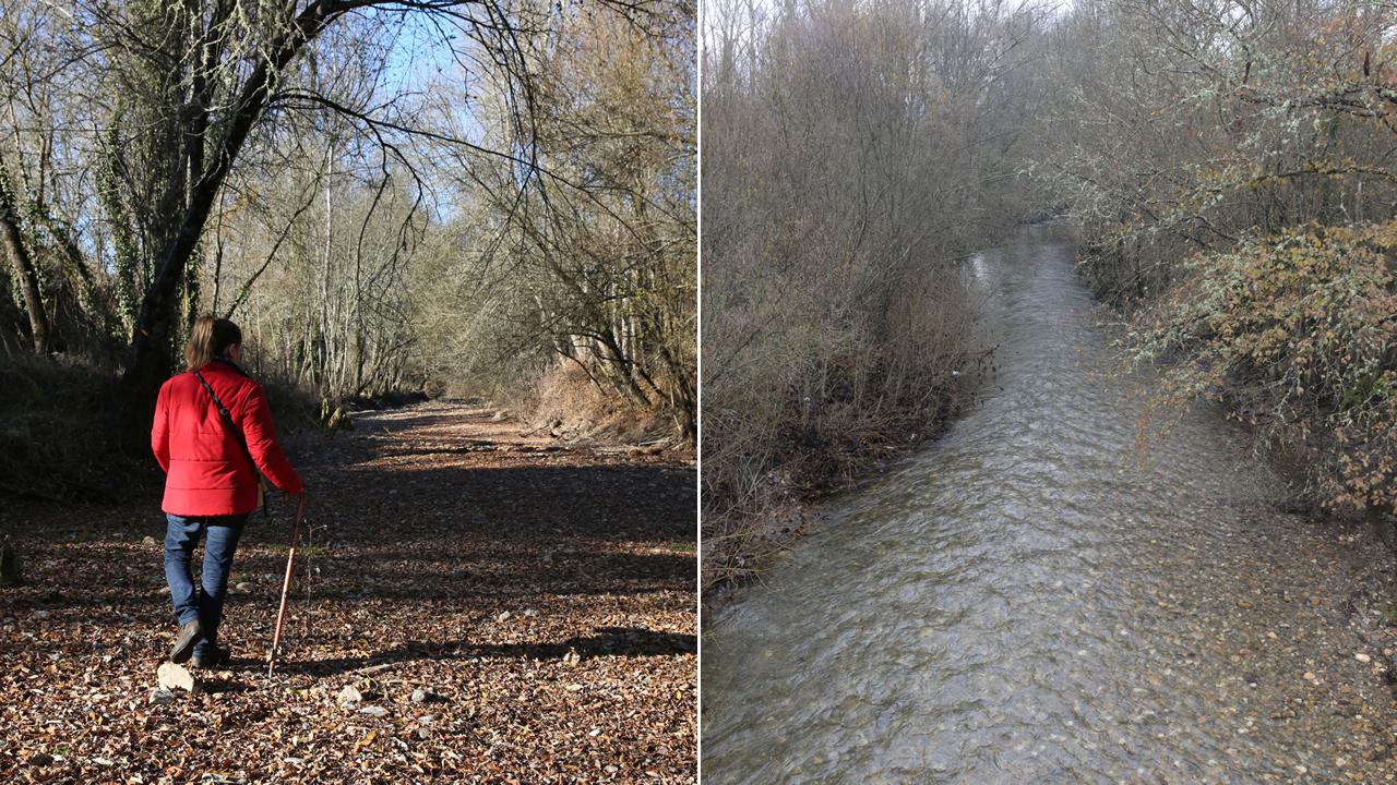 El río Támega, antes y después del paso del ciclón Ana