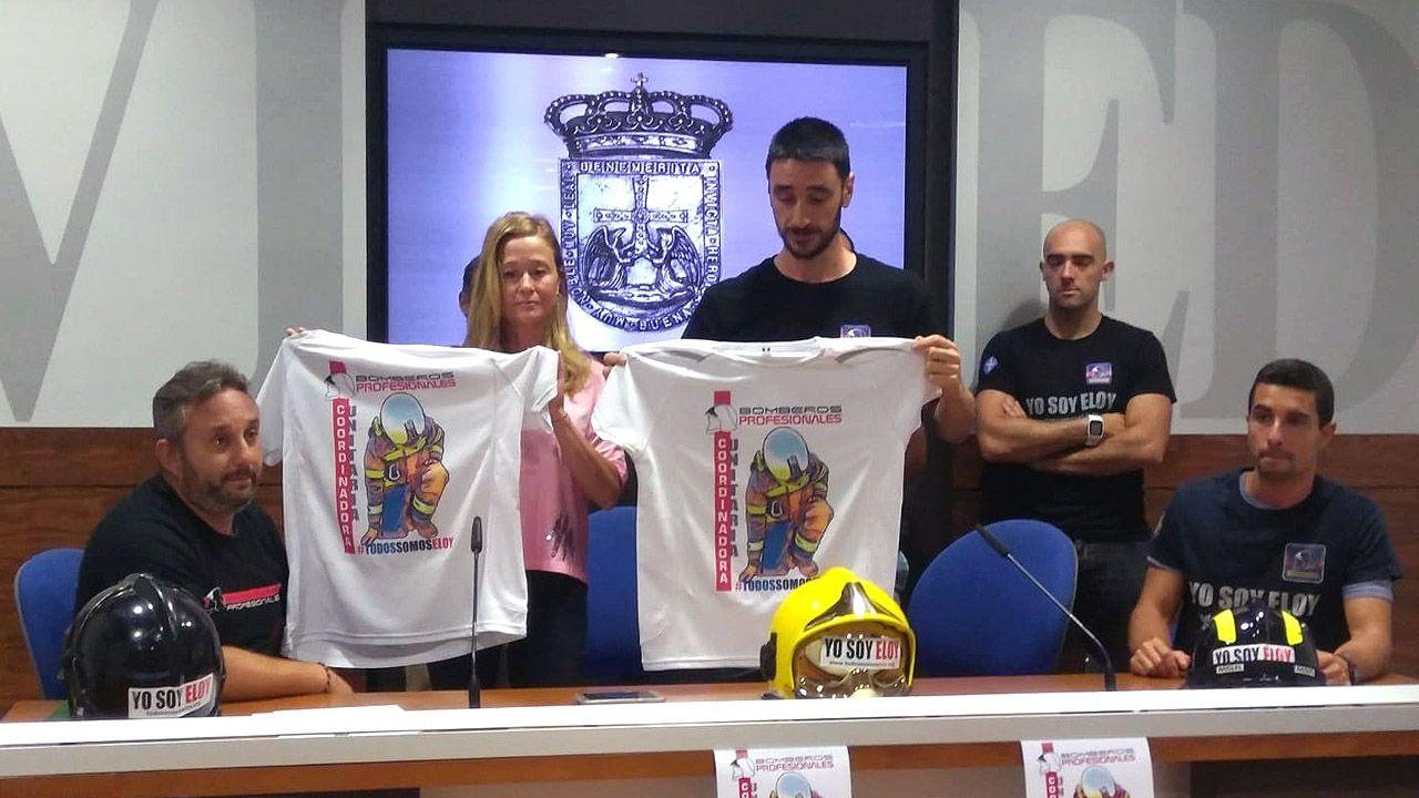 Los bomberos  lanzan una campaña en favor de la familia de Eloy Palacio, fallecido en el incendio de Uría