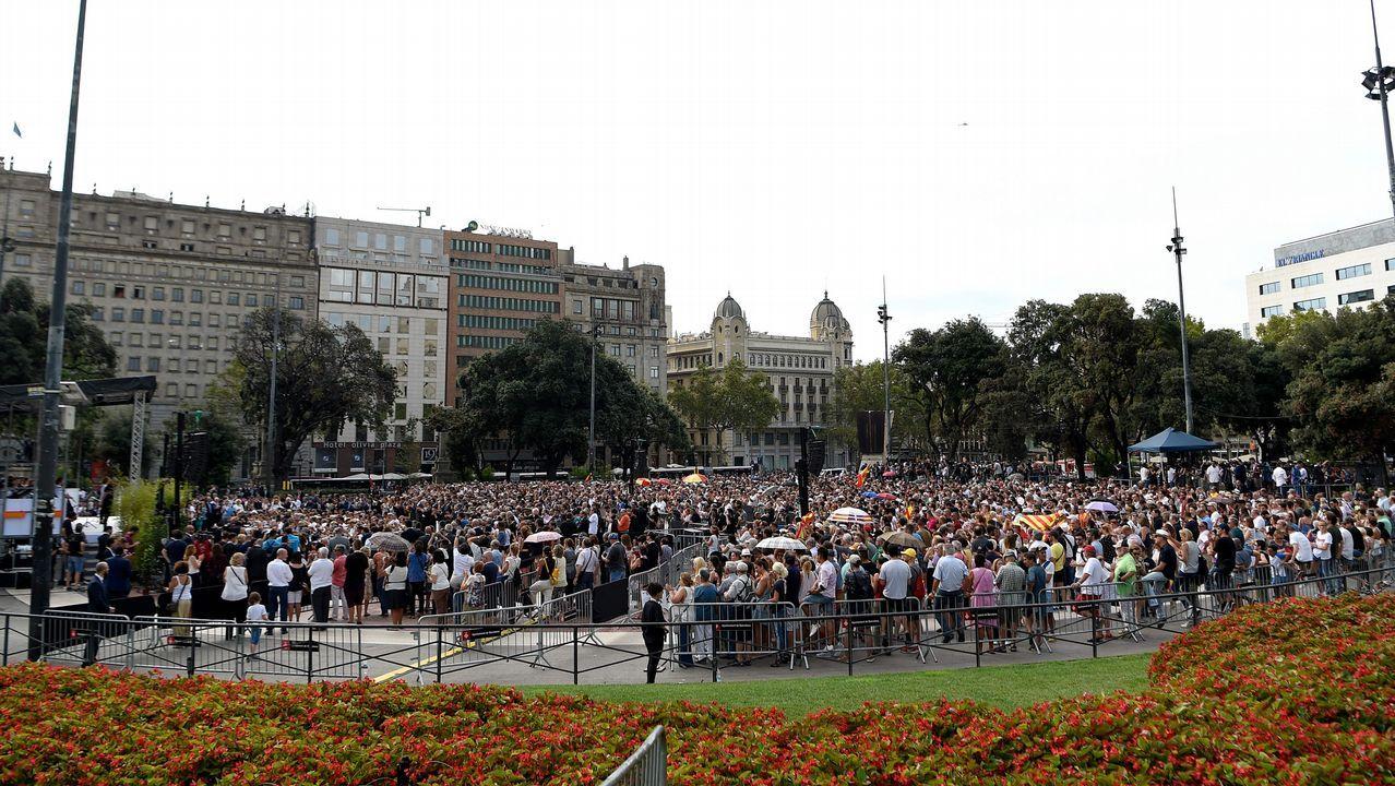 .Homenaje a las victimas de los atentados yihadistas del 17A en Barcelona