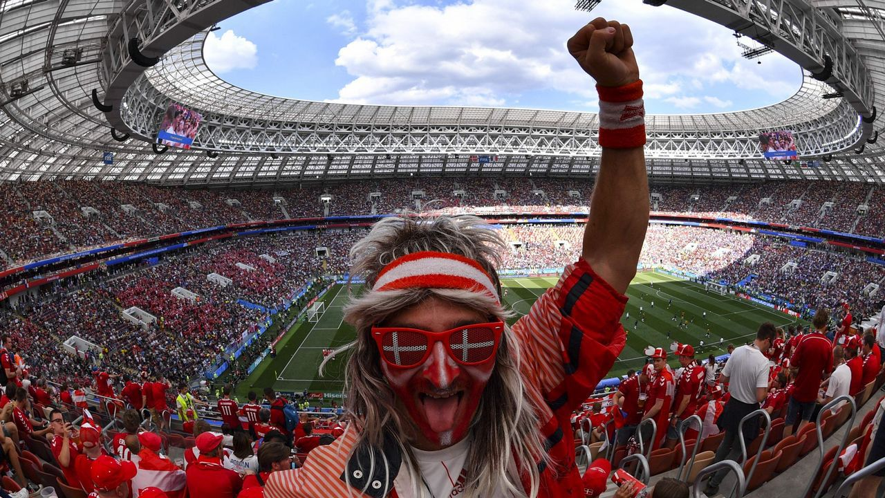 Un aficionado danés en el Mundial de Rusia