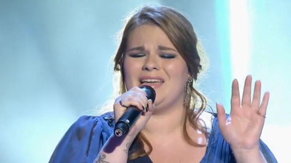 Irene Caruncho canta «Let it be».Irene, Carlos, Thais y Mario